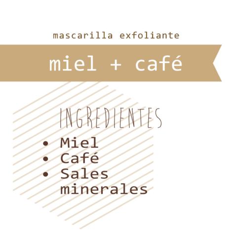 Mascarilla Miel + Café