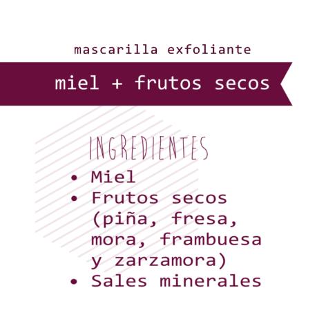 Mascarilla Miel + Frutos secos