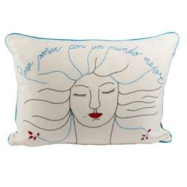 Funda de almohada «Para soñar con un mundo mejor»
