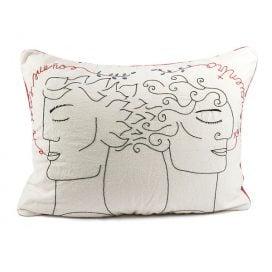 Funda de almohada «En mis sueños te encuentro» (hombre y hombre)