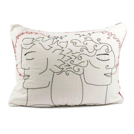 """Funda de almohada """"En mis sueños te encuentro"""" (hombre y hombre)"""