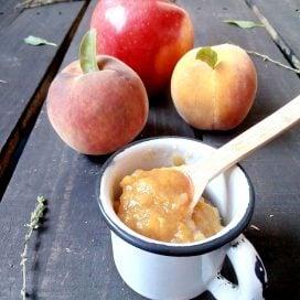 Mermelada sin azúcar de durazno con manzana