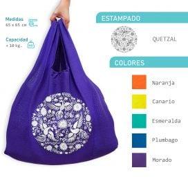 Bolsa de de asa Quetzal 100% algodón