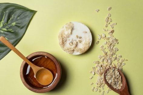 Jabón Exfoliante de Avena y Miel
