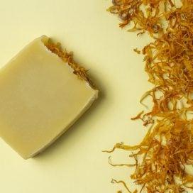 Shampoo Sólido de Té de Caléndula, Naranja y Miel