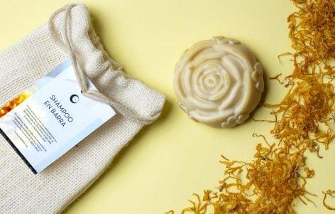Shampoo Sólido de Té de Caléndula, Naranja y Miel (rosa)