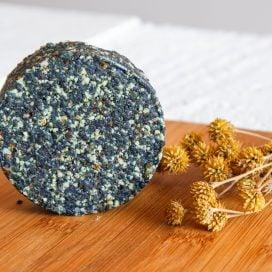 Disco de dátil y semillas con Spirulina