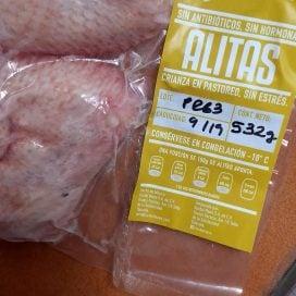 Alitas de pollo orgánico, jugosísimas!