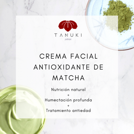 Crema Facial Antioxidante de Matcha