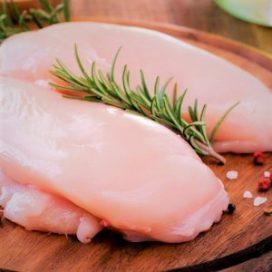 Pechuga jugosa de pollo con hueso
