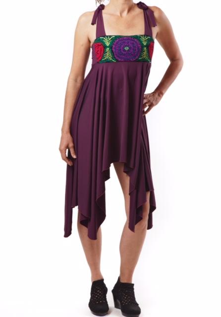 Mini vestido Flor Violeta