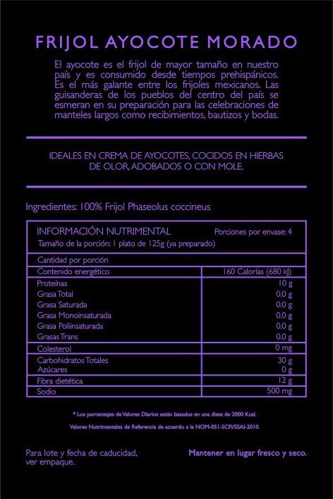 Frijol Ayocote Morado 500g