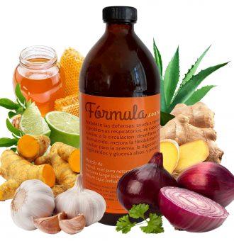 Fórmula fortalecedora del sistema inmunológico  Es antibiótica y sube las defensas. Tiene propiedades antioxidantes, por lo que ayuda a todo el organismo de manera integral. 500 ml