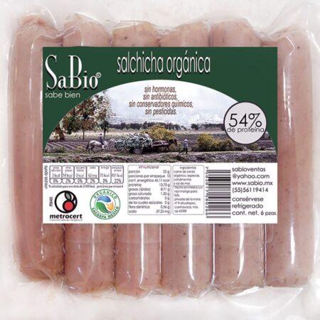 Salchicha de cerdo orgánica