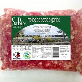 molida de cerdo orgánica