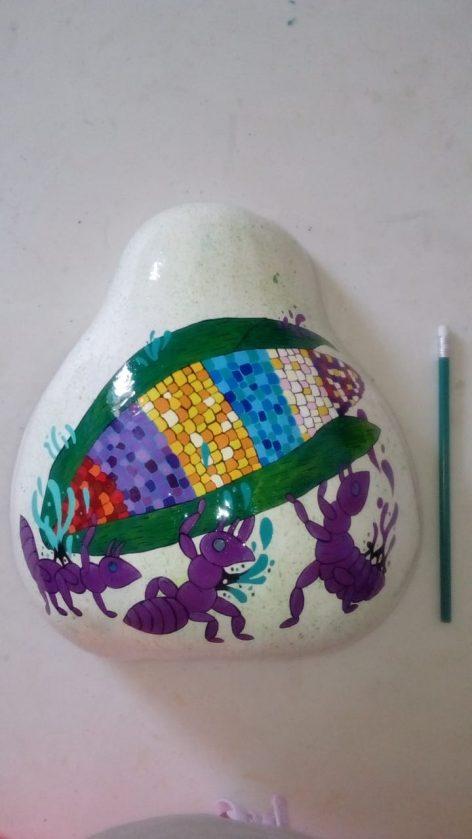 Charolas bule decoradas mediana