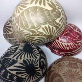 Jícaras labradas cafeteras (4 piezas)