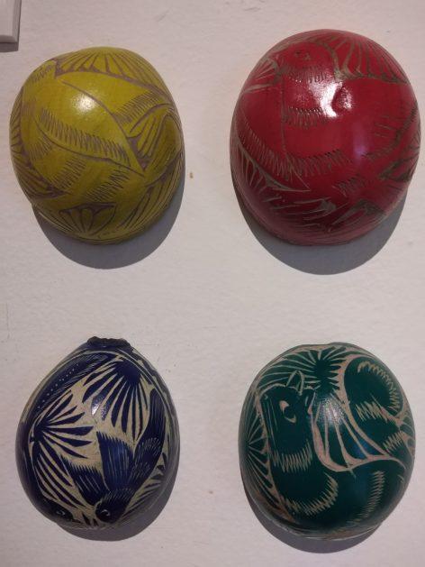 Jícaras labradas mezcaleras (4 piezas)