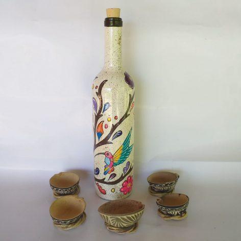 Mezcal Tobala en botella decorada (900 ml)