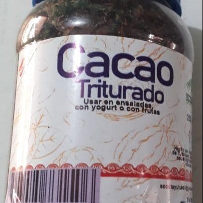cacao triturado