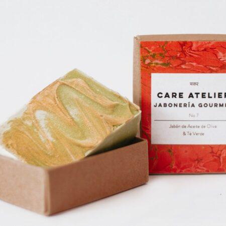 Jabón Gourmet de Aceite de Oliva & Té Verde