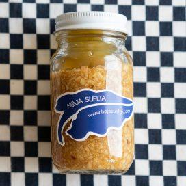 Ajos picados y macerados en aceite de oliva ~tarro chico