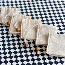Bolsitas para té de tela reutilizable (pack de 5) en colaboración con Nómada360 para Hoja Suelta