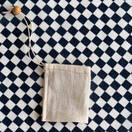 Bolsita para té de tela reutilizable Hoja Suelta
