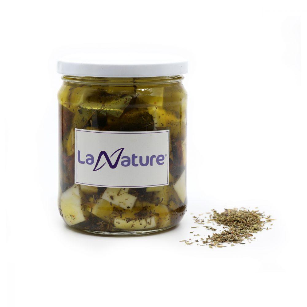Feta preparada en aceite de oliva