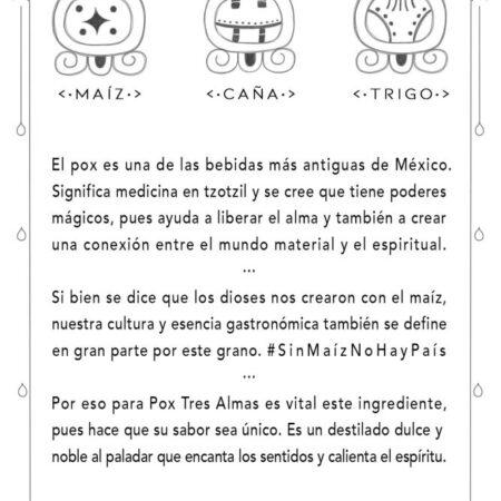 Bebida artesanal de Chiapas ·Pox de maíz criollo, caña y trigo·