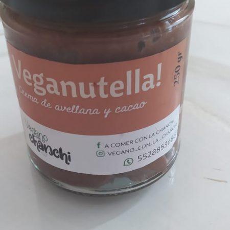 crema de avellana y cacao vegana