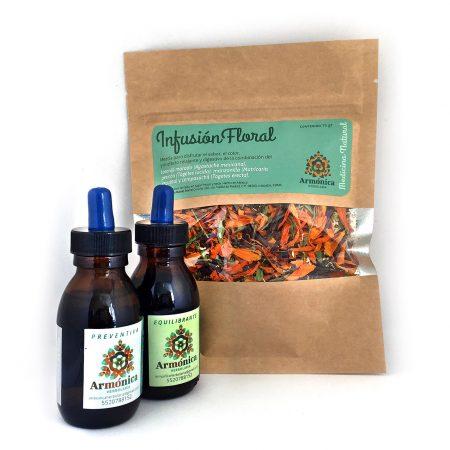 #Kit de regalo: infusión floral y dos tinturas medicinales de 75 ml. Armónica herbolaria