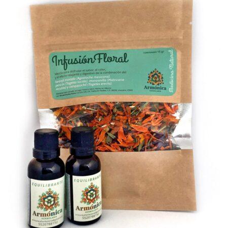 #Kit de regalo: infusión floral y dos tinturas medicinales de 30 ml. Armónica herbolaria.