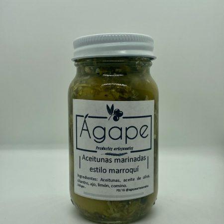 Aceitunas marinadas estilo marroquí. 110 grs.