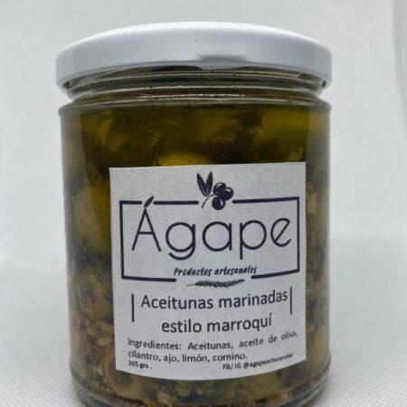 Aceitunas marinadas estilo marroquí