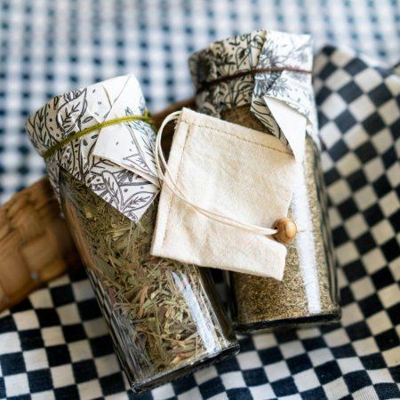 Dueto ~Té de manzanilla y té de limón en Hoja Suelta